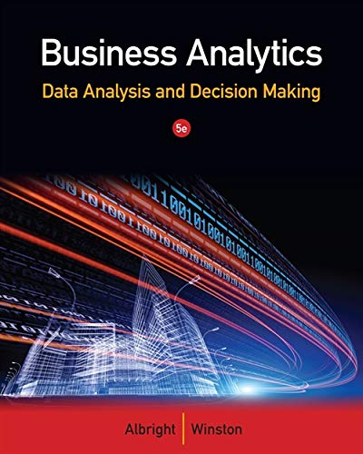 Business Analytics: Data Analysis & Decision Making (Mba In Data Science And Data Analytics)