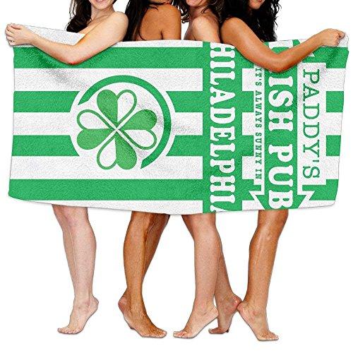 TOGEFRIEND Beach Towel It's Always Sunny in Philadelphia Paddy's Irish Pub 80