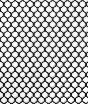 Nylon Mesh Material - 7mm Polyester Hex Mesh - Black Fabric - by the Yard