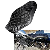 INNOGLOW Motorcycle 1 PCS Driver & Driver Front Rear Passenger Seat Two Up for Harley Sportster Davidson XL 883 1200 48 72