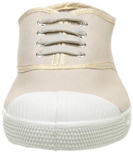 Bensimon Tennis Lacet Shinypiping - Botas Mujer Beige (Beige Coquille)