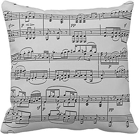 Musical Notes Sheet Music Throw Pillows
