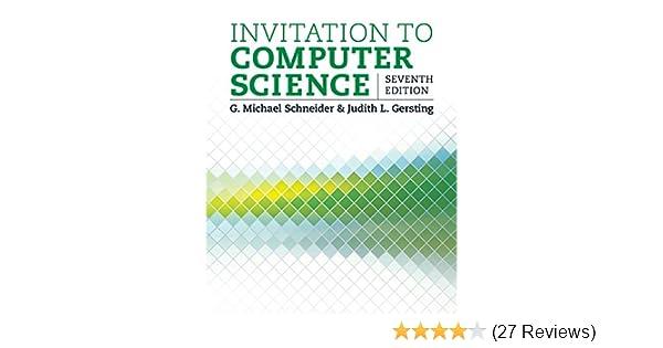 Amazon Com Invitation To Computer Science Ebook G Michael
