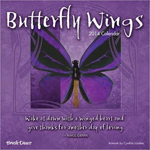 2014 Butterfly Wings Mini Wall Calendar