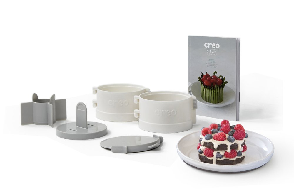 Creo Stax Stacking Food Prep Tool and Recipe Book Set