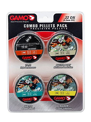 Gamo 63209295554 Combo Pack Assorted Air Rifle Pellets.22 Caliber (TS-22, Hunter, Magnum, Master Point) ()