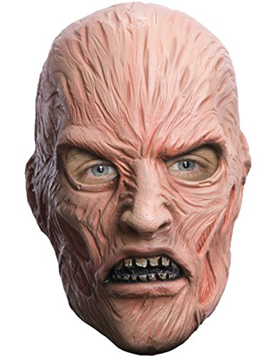 [A Nightmare On Elm Street Freddy Krueger Deluxe Overhead Mask, Red, One Size] (Deluxe Latex Freddy Krueger Mask)