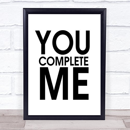 - You Complete Me Jerry Maguire Quote Wall Art Print Poster Picture