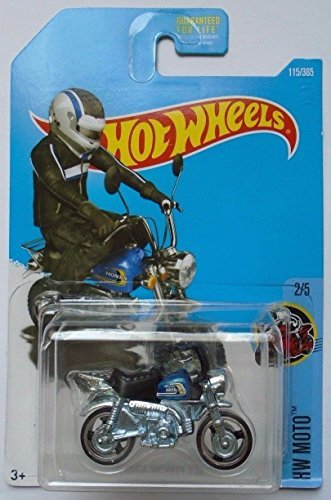 Hot Wheels 2017 HW Moto Honda Monkey Z50 (Mini Bike) 115/365, Blue (Hot Bodies Honda)
