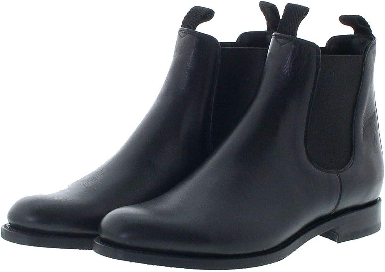 Sendra Boots Damen Chelsea Boots 12234 Negro Lederstiefelette Schwarz Negro