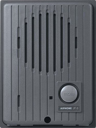 Aiphone Corporation JF-D Audio Door Station for JF Series Hands-Free Video Intercom, Fire Resistant PC and ABS Plastic, 3-7/8