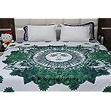 Indian Psychedelic Sun&Moon Mandala Reversible Duvet Cover, Doona Cover, Comforter Quilt Cover, Decor Blanket Cover, Boho Decor Throw, Bohemian Queen Size Bedding With 2 Pillowcases