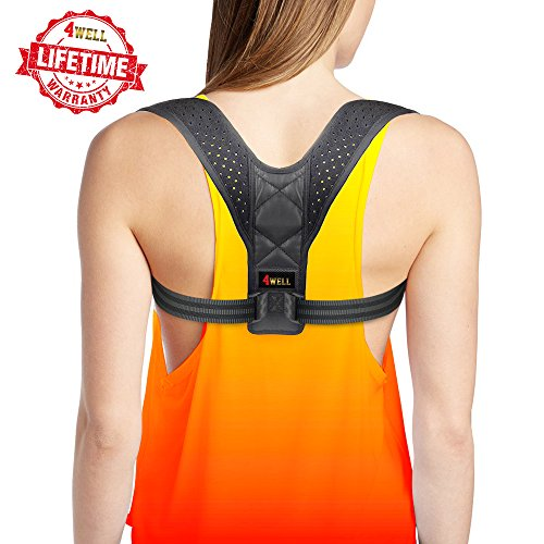 Posture Corrector for Women - Rounded Shoulders Ultimate Comfort Shoulder Corrector Clavicle Cervical Wearable Support for Upper Back. Effective and Comfortable Posture Brace for Slouching & Hunching