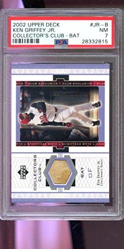 2002 Upper Deck Collector's Club Ken Griffey Jr. Game-Used Bat Graded Card PSA 7