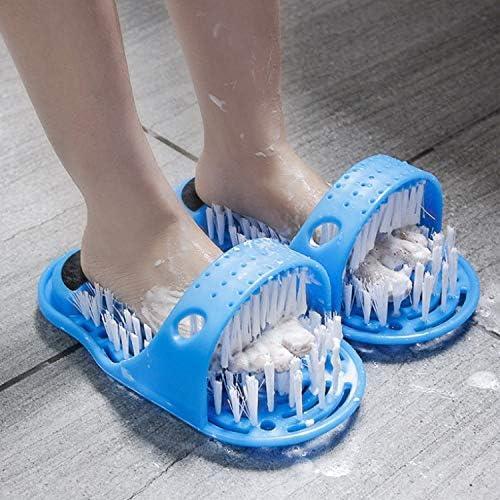 SRFDD Cepillo de Limpieza para pies, Ducha de plástico Zapatillas ...