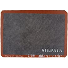 """Silpat SN415290-02 Silpain Premium Non-Stick Silicone Baking Mat for Bread, 11-5/8"""" by 16-1/2"""", Black"""