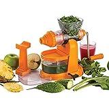 Kitchen Bazaar Jumbo Fruit & Vegetable Premium Manual Hand Juicer Mixer Grinder With Steel Handle & Waste Collector (Color May Vary )