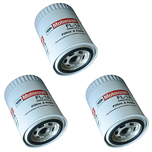 Motorcraft FL1A Engine Oil Filter Kit Set of 3 for Ford Lincoln Mercury