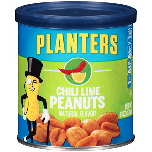 Planters Flavored Peanuts, Chili Lime, 6 Ounce