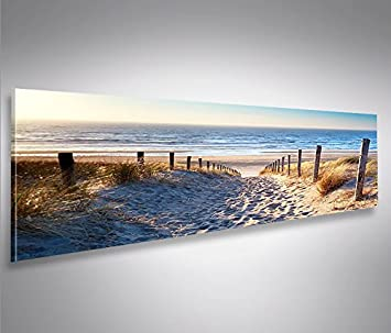 Bild Bilder Auf Leinwand Weg Zum Meer Dnen Panorama XXL Poster Leinwandbild Wandbild Dekoartikel Wohnzimmer Marke