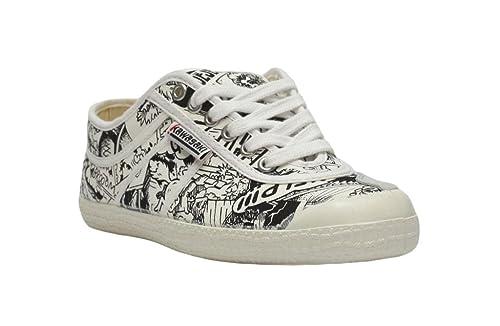 Kawasaki - Zapatillas (talla 24), diseño de cómic, color blanco y negro: Amazon.es: Zapatos y complementos