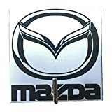 Agility Bathroom Wall Hanger Hat Bag Key Adhesive Wood Hook Vintage Mazda Car Logo's Photo