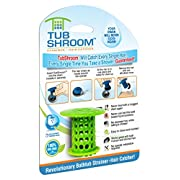Amazon Lightning Deal 90% claimed: TubShroom the Revolutionary Tub Drain Protector Hair Catcher, Strainer, Snare, Green