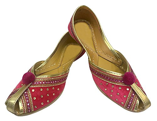 Velvet n Ballet Handmade Khussa Jutti Punjabi Indian Women Leather Style amp; Step Shoes wOtWfCSqqx