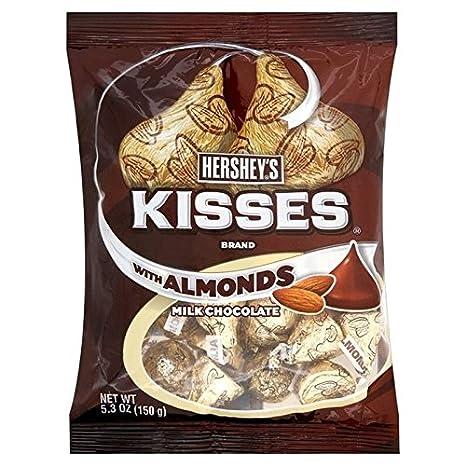 Hersheys Besos De Chocolate Con Leche Hershey S Con Almendras 150g (Paquete ...