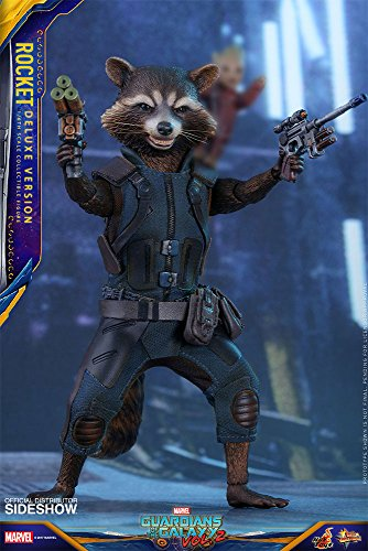 - Hot Toys Marvel Guardians of the Galaxy Vol. 2 Rocket (Deluxe Version) 1/6 Scale Figure