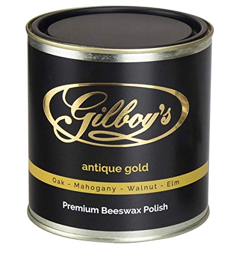(Gilboys 'Antique Gold' Beeswax Wood Polish (34fl.oz) Brings Out The Best in Dark and Antique Woods Such as Antique Oak, Mahogany, Walnut and Elm )