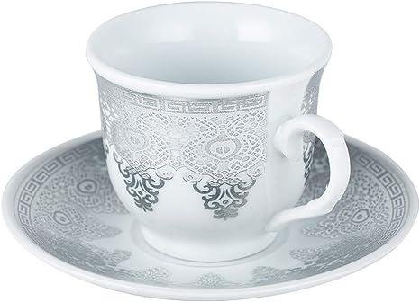 Dekonaz6er Espressotassen SetMokkatassen mit UntertassenSelçuklu Design