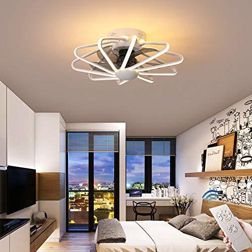 CAGYMJ Ventilador De Techo con Iluminación De Techo LED Luz Velocidad del Viento Ajustable Control Remoto Ultra…
