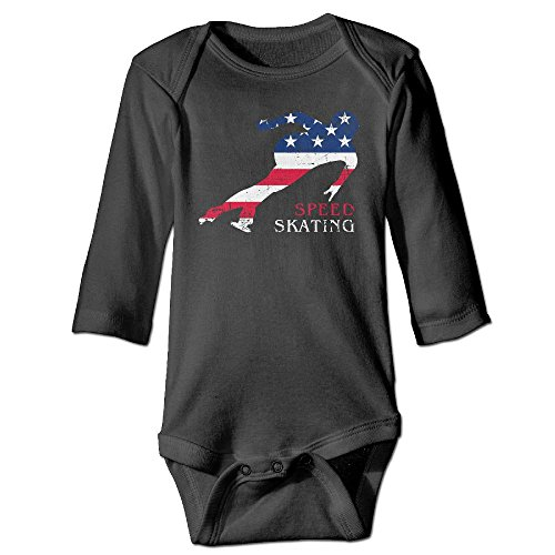 BABYSUIT SD American Flag Speed Skating Baby Infant Footless Bodysuits Long Sleeve Rompers Sleep and - Usa Speed Suit
