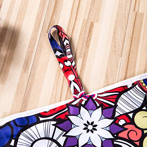 Tappetino per Cambio Bambino, Vawal Fasciatoio da Viaggio per Neonati Fasciatoio Portatile Pieghevole da Viaggio, Tappetino per Cambio Pannolino Per Neonati e Bambini, 59 x 35 cm (colorato)