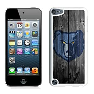 New Custom Design Cover Case For iPod Touch 5th Generation Memphis Grizzlies 3 White Phone Case