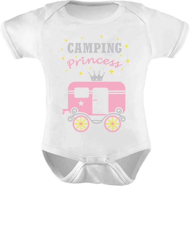 Tstars – Camping Princess Baby Girl Camper Bodysuit Camping Gift Baby Bodysuit