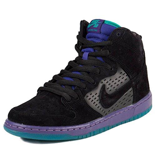 Nike Mens Dunk High Premium SB Black Grape Black/Black Grape-Ice Suede Size 9.5