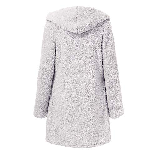 Invernale Hoody Tasca Ponticello Nero Con Giubbotto Lungo Hooded Giacca Parka Cappotto Gray Soft Morwind Teddy Elegante Donne Donna Ftw6xHqp