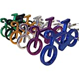 6 Pcs Personality Metal Bicycle Bottle Opener Keychain Key Chain Ring Gift for Biker Friends