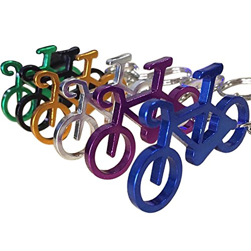 6 Pcs Personality Metal Bicycle Bottle Opener Keychain Key Chain Ring Gift for Biker - Keychain Bike