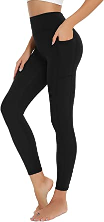 BATHRINS High Waist Yoga Pants with 7 Pockets for Women 4 Way Stretch Workout Running Yoga Leggings Daily Wear Tights