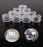 Beauticom 5G/5ML High Quality Clear Plastic Cosmetic Container Jars with Screw Cap Lids (Quantity: 50pcs)