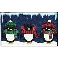 Nourison 710JT Three Penguins Rug, Navy