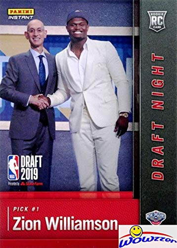 Zion Williamson 2019 Panini Instant First Ever Printed Rookie Card In Mint Condition Shipped In Top Loader Limited Edition Draft Night Rookie Card