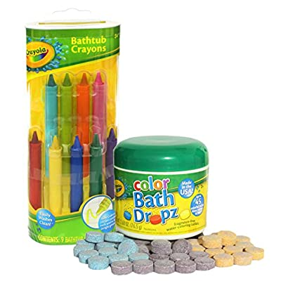 Crayola Bathtub Crayons with Crayola Color Bath Drops 60 tablets: Toys & Games
