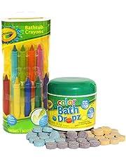 Crayola Bathtub Crayons with Crayola Color Bath Drops 60 tablets by Play Visions