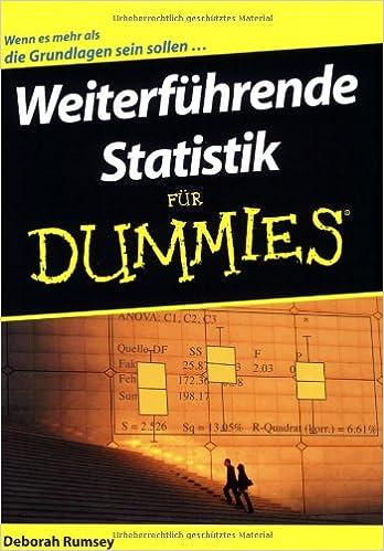 Weiterfuhrende Statistik Fur Dummies (Für Dummies)