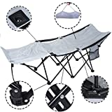 Baby Cot with Change Table Attached Uk New Portable Folding Camping Adventure Camp Bed Durable Hammock Sleeping Cot Steel 600D Nylon Oxford