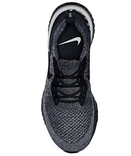 Black Noir Nike React Femme Flyknit Epic WMNS Sneakers Basses 011 Black White qn0FnAzBx